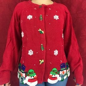 ❗️SOLD❗️80s Snowman Christmas Sweater
